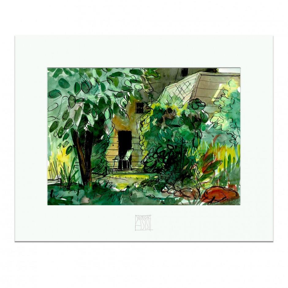 """CAROLAS GARTEN – Miniprint """"Gartenhaus"""""""