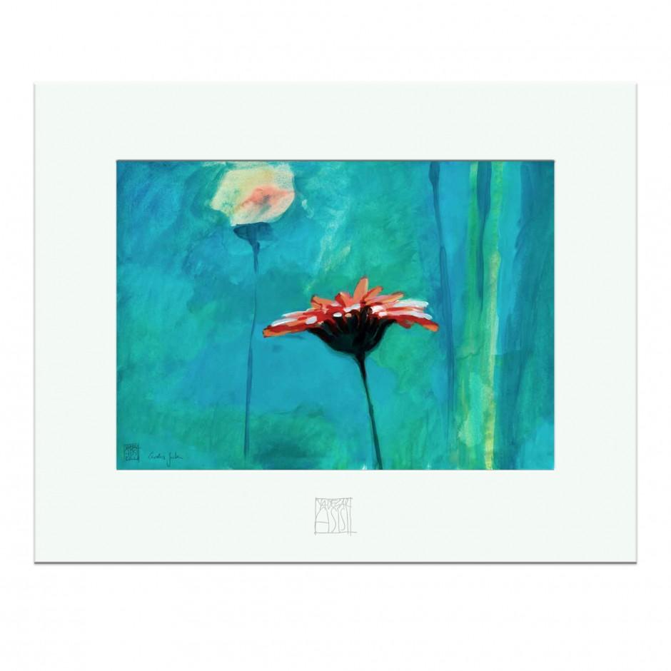 "CAROLAS GARTEN – Miniprint ""Rote Gerbera"""