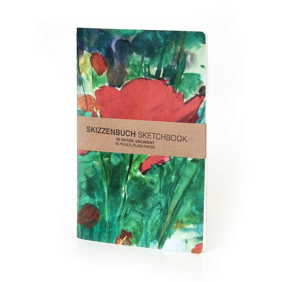 """CAROLAS GARTEN – Skizzenbuch """"Roter Mohn"""""""