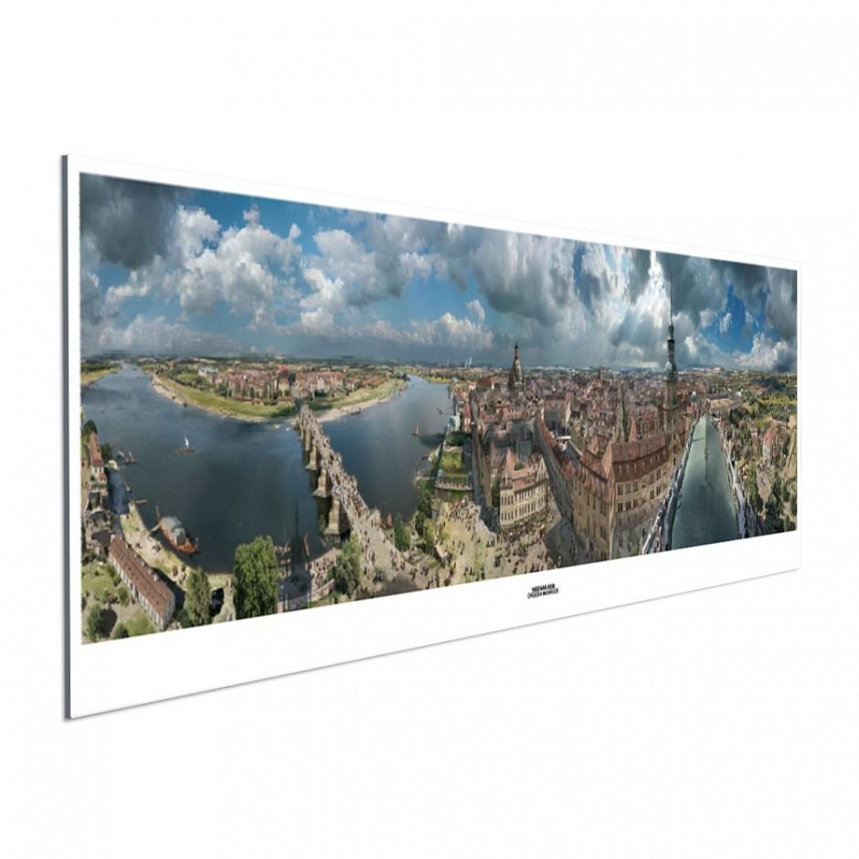 DRESDEN IM BAROCK – Panoramaposter