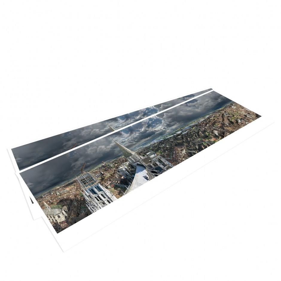 ROUEN 1431 – Panoramapostkarte