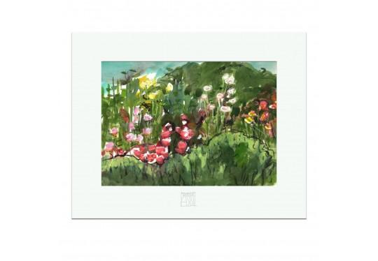 "CAROLAS GARTEN – Miniprint ""Aquarell Carolas Garten"""